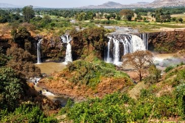 Blue Nile Waterfall near Bahir Dar in Ethi