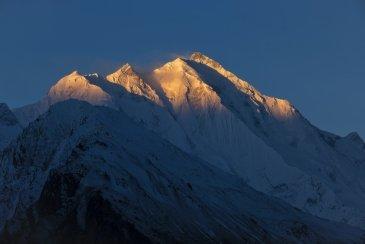 Rakaposhi peak i K2 łańcuch Karakoram