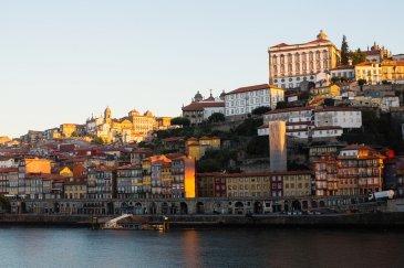 .View of Douro river and Ribeiro
