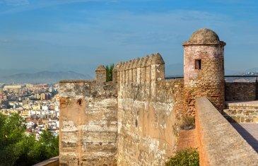 Gibralfalo Castle in Malaga