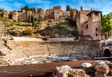 Rzymskie Theatre w Malaga